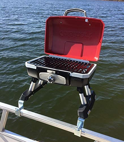 Cuisinart Grill Modified for Pontoon Boat with Arnall's Stainless Grill Bracket - 51tRIZNiq8L. AC